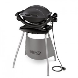 Barbacoa Weber Q140 eléctrica gris antracita Stand