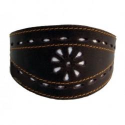 Collar de Cuero Artesano Picado para galgo