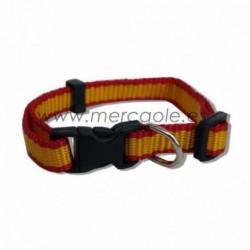 Collar de nylon bandera española con cierre fácil