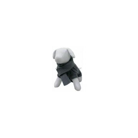 Ropa - Jersey para perros Escocia de punto gris con bufanda - MercaOlé 3aa05720a82